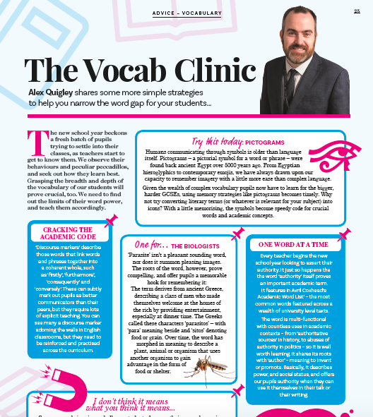 Vocabulary Clinic